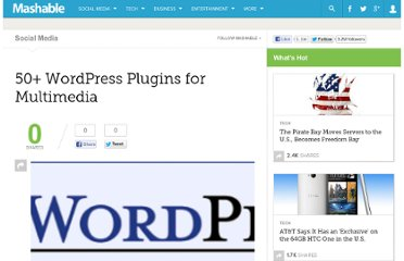 http://mashable.com/2007/07/27/50-wordpress-plugins-for-multimedia/