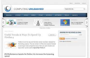 http://www.computingunleashed.com/speed-up-firefox-4-tweaks.html