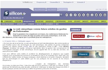 http://www.silicon.fr/le-web-semantique-comme-future-solution-de-gestion-de-linformation-43840.html