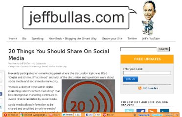 http://www.jeffbullas.com/2010/03/28/20-things-you-should-share-on-social-media/