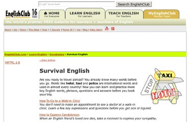 http://edition.englishclub.com/category/survival/