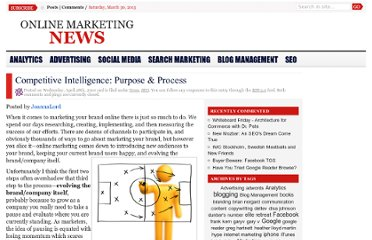 http://onlinemarketingnews.org/competitive-intelligence-purpose-process