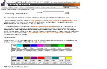 http://www.utexas.edu/learn/html/colors.html