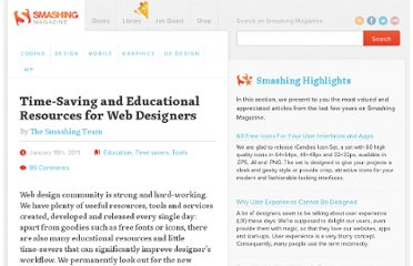 http://www.smashingmagazine.com/2011/01/18/time-saving-and-educational-resources-for-web-designers/