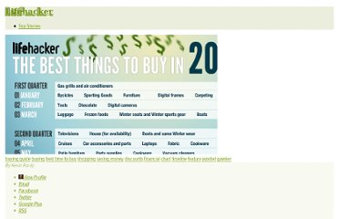 http://lifehacker.com/5736625/the-best-times-to-buy-anything-in-2011