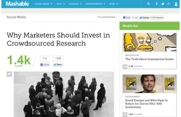 http://mashable.com/2011/01/18/marketers-crowdsourced-research/