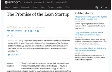 http://gigaom.com/2009/08/11/the-promise-of-the-lean-startup/