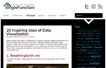 http://singlefunction.com/20-inspiring-uses-of-data-visualization/