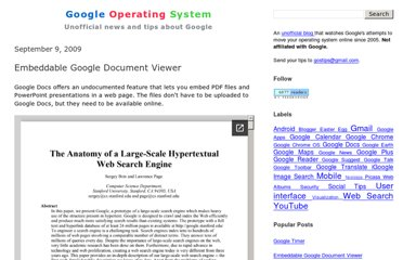 http://googlesystem.blogspot.com/2009/09/embeddable-google-document-viewer.html