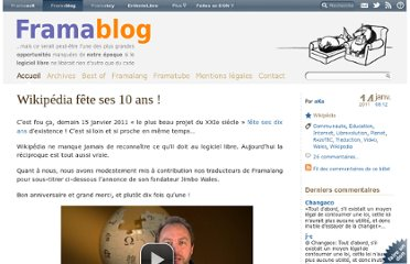 http://www.framablog.org/index.php/post/2011/01/14/wikipedia-10-ans