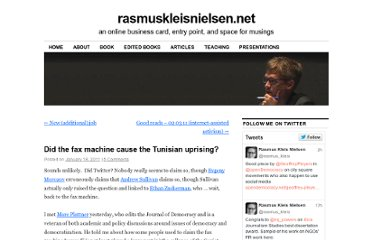 http://rasmuskleisnielsen.net/2011/01/18/did-the-fax-machine-cause-the-tunisian-uprising/