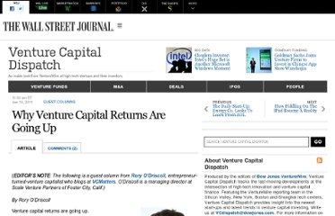http://blogs.wsj.com/venturecapital/2011/01/19/why-venture-capital-returns-are-going-up/