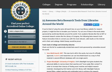 http://www.collegedegree.com/library/college-life/25-awesome-beta