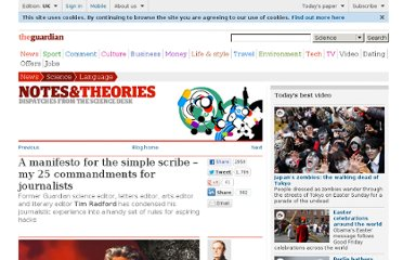 http://www.guardian.co.uk/science/blog/2011/jan/19/manifesto-simple-scribe-commandments-journalists