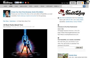 http://www.neatorama.com/neatogeek/2010/06/28/10-neat-facts-about-tron/
