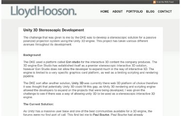http://lloydhooson.co.uk/2010/01/12/unity-3d-stereoscopic-development/
