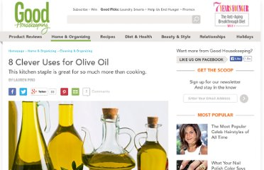 http://www.thedailygreen.com/green-homes/latest/olive-oil-benefits-uses-460609