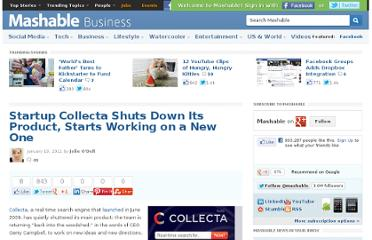 http://mashable.com/2011/01/19/startup-collecta-shuts-down-search-engine/