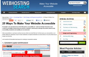 http://www.webhostingsearch.com/articles/25-ways-to-make-your-site-more-accessible.php