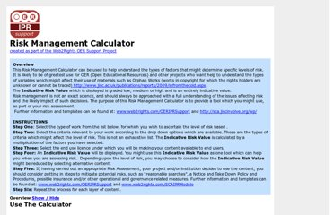 http://www.web2rights.com/OERIPRSupport/risk-management-calculator/
