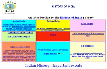 http://www.indianchild.com/history_of_india.htm
