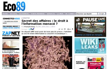 http://eco.rue89.com/2011/01/20/secret-des-affaires-le-droit-a-linformation-menace-186457