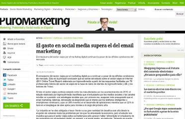 http://www.puromarketing.com/66/8617/gasto-social-media-supera-email-marketing.html