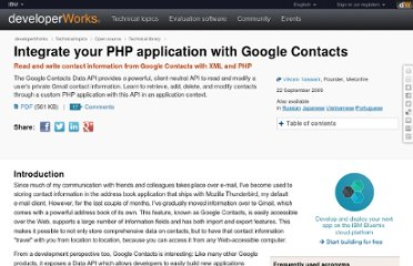 http://www.ibm.com/developerworks/opensource/library/x-phpgooglecontact/index.html
