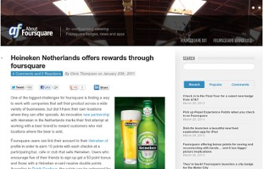 http://aboutfoursquare.com/heineken-netherlands-offers-rewards-through-foursquare/