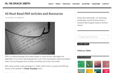 http://www.gracesmith.co.uk/43-must-read-php-articles-and-resources/
