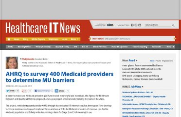 http://www.healthcareitnews.com/news/ahrq-survey-400-medicaid-providers-determine-mu-barriers