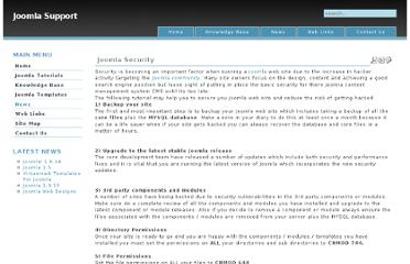 http://www.joomlasupport.co.uk/Joomla/Joomla_Tutorials/Joomla_Security.html