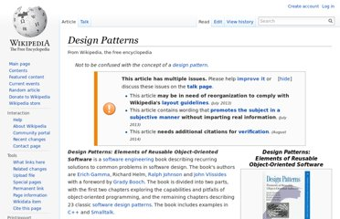 http://en.wikipedia.org/wiki/Design_Patterns