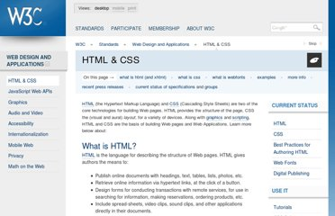 http://www.w3.org/standards/webdesign/htmlcss