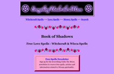 http://www.everythingunderthemoon.net/bookofshadows.htm