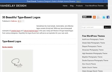 http://vandelaydesign.com/blog/galleries/type-based-logos/
