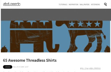 http://abduzeedo.com/65-awesome-threadless-shirts