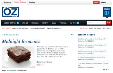 http://www.doctoroz.com/videos/kims-midnight-brownies-recipe