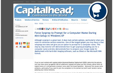 http://capitalhead.com/articles/force-sysprep-to-prompt-for-a-computer-name-during-mini-setup-in-windows-xp.aspx