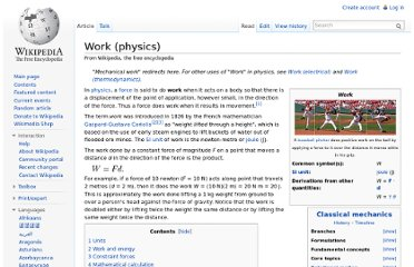 http://en.wikipedia.org/wiki/Work_(physics)