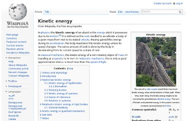 http://en.wikipedia.org/wiki/Kinetic_energy