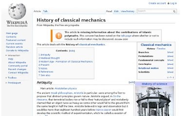 http://en.wikipedia.org/wiki/History_of_classical_mechanics