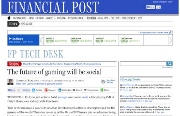 http://business.financialpost.com/2011/01/20/the-future-of-gaming-will-be-social/