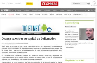 http://blogs.lexpress.fr/tic-et-net/2011/01/21/orange-va-entrer-au-capital-de-dailymotion/