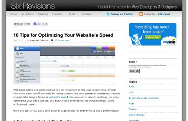 http://sixrevisions.com/web-development/site-speed-performance/