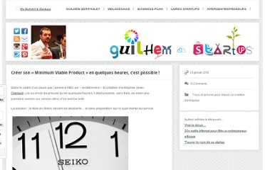 http://www.guilhembertholet.com/blog/2011/01/21/creer-son-minimum-viable-product-en-quelques-heures-cest-possible/