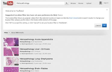 http://www.youtube.com/results?search_query=Histopathology&search=tag