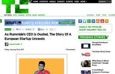 http://eu.techcrunch.com/2011/01/21/as-rummbles-ceo-is-ousted-the-story-of-a-european-startup-unravels/