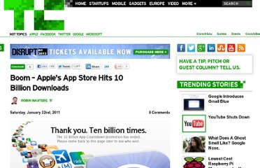 http://techcrunch.com/2011/01/22/boom-apples-app-store-hits-10-billion-downloads/