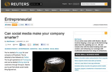 http://blogs.reuters.com/small-business/2011/01/21/can-social-media-make-your-company-smarter/